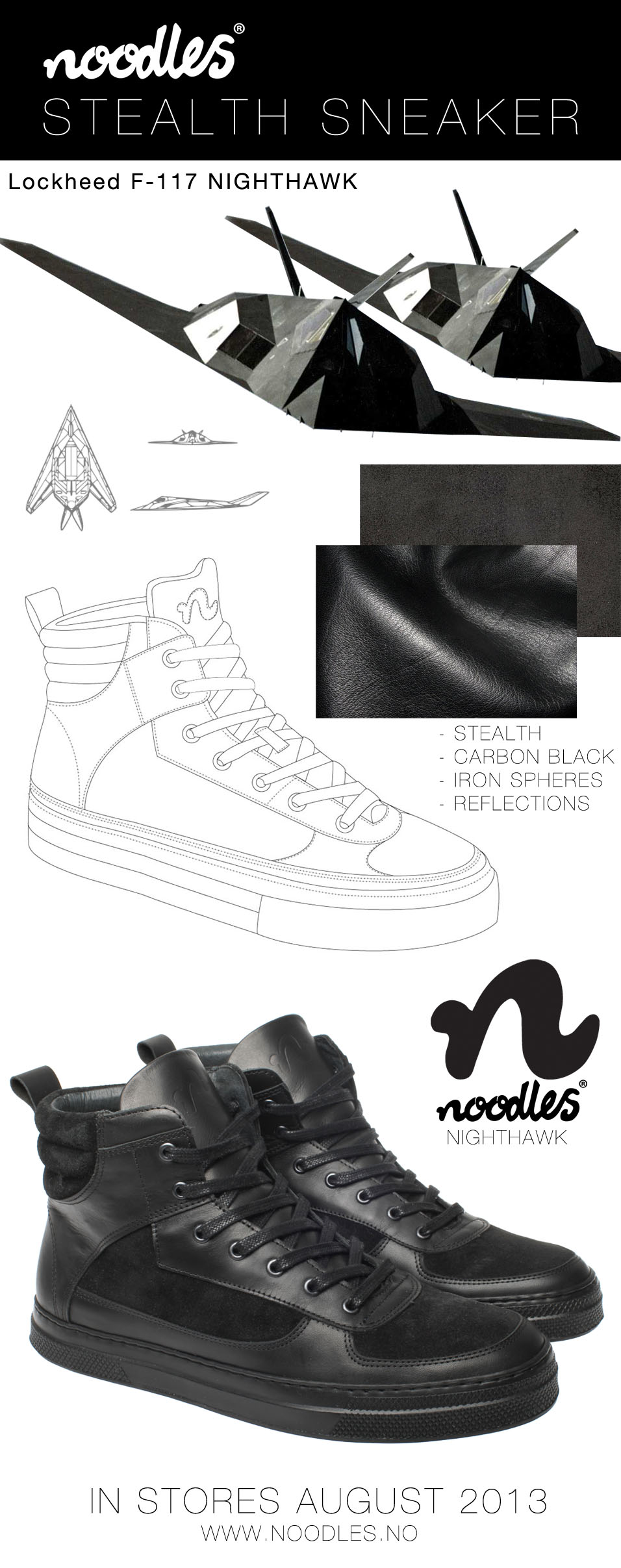 Stealth inspiration sneaker