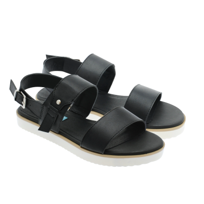 Noodles - Summertime black sandal 6