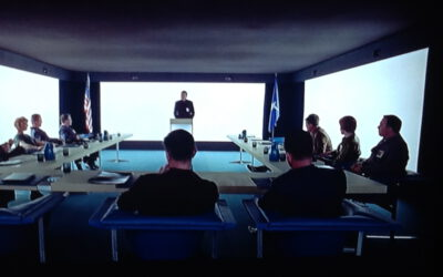 Spaced out board room